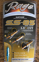 "Rage SS-85 Broadheads 85grain 3pack with Practice Head Slipcam 1.5"" Cut MPN44200"
