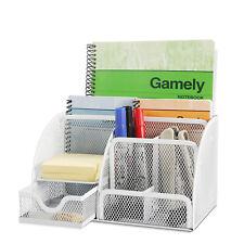 Desk Organizer Office Desktop Tabletop Sorter Pencil Holder Caddy w/ Drawer