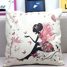 Printing Design Fairy/Flower/butterfly Throw Pillow Cotton-Linen-Cushion New
