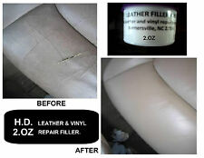 Leather and Vinyl Repair Compound Filler 2 oz *KIT* fix,rips,scratch,holes &more