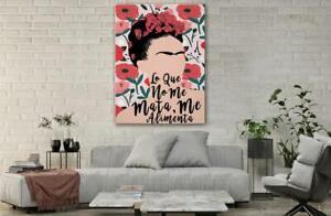 Frida Kahlo Art Poster Frida Kahlo Mexican Floral Feminist Art Canvas Printed