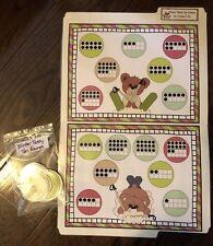 Winter Teddy Ten Frames Preschool Math Centers File Folder Game Teacher Resource