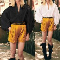Women's Vintage Victorian Blouse Puff Sleeve Lace Floral Festival Top Shirt 8-26
