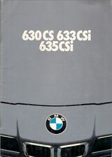 BMW 6-Series 1979 UK Market Sales Brochure 630 CS 633 635 CSi