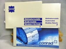 3 Conrad Catalogs Modell Faszination No. II & III & 2002 Modell Faszination NEW