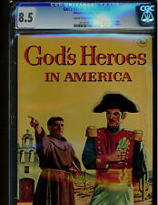 God'S Heroes In America #Nn Cgc 8.5 1956 Blue Label Silver Age Comic
