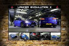 MITSUBISHI EVO EVOLUTION X RALLY CAR POSTER PRINT 24x36in