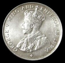 1921 STRAITS SETTLEMENTS SILVER GEORGE V 50 CENTS CHOICE MINT STATE CONDITION
