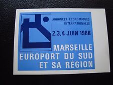 FRANCE - carte 4/6/1966 (journees economiques internationales) (cy97) french (A)