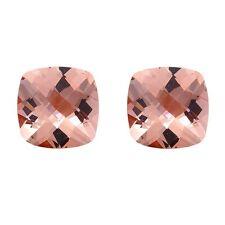 2.76ct 7mm Natural Cushion Cut Morganite Loose Gemstones Great for Earrings!