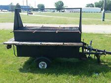 Holstein Custom Built L/P Gas Grill on single axle trailer.