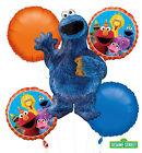 Sesame Street Party Supplies ELMO 5 FOIL BALLOON BOUQUET Helium LICENSED