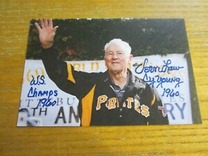 Vern Law Autographed Signed 4X6 Photo MLB Baseball Pittsburgh Pirates
