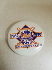 New York Mets 25th Anniversary Pin Used Good Condition
