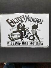 More details for ska enjoy yourself metal sign plaque ska/mods etc poster retro garage shed