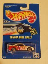 Hot Wheels Toyota MR2 Rally Blue Card 233