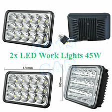 "2pcs 4""x6"" Led Cree light bulb Crystal Clear Sealed beam Headlight Headlamp IP67"