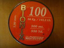 NYLON GRAUVELL BIONIX 500 M ( 1,00 MM- 66 KG / 145,2 Lb )