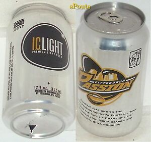 2007 IWFL WORLD CHAMPION PITTSBURGH PASSION WOMEN'S FOOTBALL BEER CAN SUPER BOWL