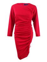 Rachel Rachel Roy Women's Plus Size Side-Tie Sheath Dress