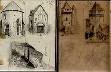 CAHIER DE DESSIN.Paysages Fleurs et divers. 1897/1901. Dsa270c