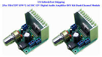 2Pcs TDA7297 15W*2 AC/DC 12V Digital Audio Amplifier DIY Kit Dual-Channel Module