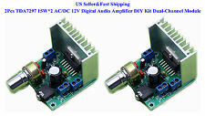 2Pcs TDA7297 15W*2 AC/DC 12V Digital Audio Amplifier DIY Kit Dual-Channel Module