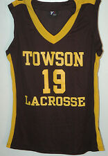 Vtg TOWSON UNIVERSITY LADY TIGERS Lacrosse Jersey RARE Womens MARYLAND COLLEGE L