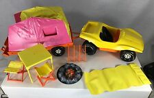 Barbie Goin' Camping Set 1973 Breezy Buggy & Tent Trailer & More Mattel 8669