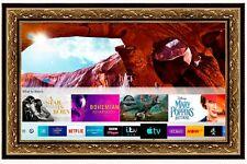"Framed Mirror TV Samsung 43"" 4K Ultra HD HDR Smart LED TV/ Gold Ornate Frame"