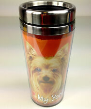 Yorkie Insulated Tumbler Travel Mug Coffee Thermos Dog Yorkshire Terrier