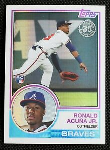2018 Topps Ronald Acuna Jr. RC Silver Pack - Nice Centering! 1983 Insert Rookie