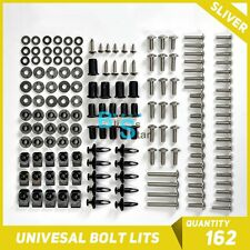 Silver 162Pcs Fairings Bolt Kit Fastener Nuts Screws Fit CBR 250 500 125 RR