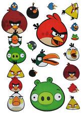 15 PC Set Wall Tattoo/Window Sticker - Angry Birds - Self Adhesive + Wiederver