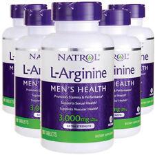 L-Arginine 3000mg 5X90 Tablets Natrol Expires 202 Vitamin B-12