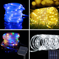 100LED 12M Solar Power Rope Tube String Fairy light Waterproof Garden Yard Party