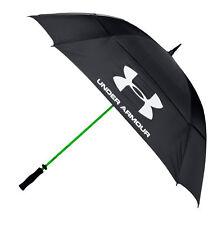 "Under Armour 2017 68"" Double Canopy Golf Umbrella - Black/High Vis Yellow"