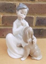 LLADRO Boy with Dog Figurine