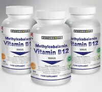 Vitamin B12 1000mcg Methylcobalamin 540 Tablets Made In UK Futurevits Vit B12