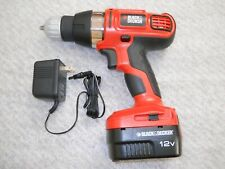 Black & Decker 12V DRILL/DRIVER, Model SS12, Excellent Working Condition