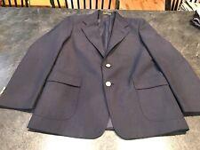 Boys Club Room Dark Blue Wool Blend Uniform Blazer Suit Coat Jacket Size 16