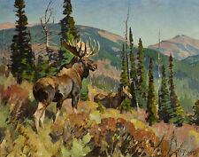 Rungius Carl Moose In A Landscape Print 11 x 14  #4756
