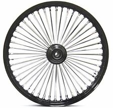 48 King Fat Spoke 21 X 2.15 Front Wheel Black Rim Hub Harley Softail Wide Glide