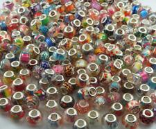MIX 50pcs murano charm Beaded fit European Bracelet Chain Wholesale beads A1