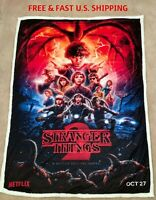 STRANGER THINGS 52x60 or 60x80 Soft Fleece No Fade Hypoallergenic SHERPA BLANKET