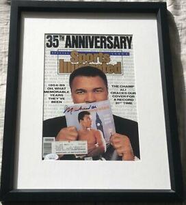 Muhammad Ali autograph autographed signed 1989 Sports Illustrated SI framed JSA