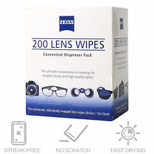 8c5ad584c1eb 200CT ZEISS Lens Cleaning Wipes Eye Glasses Screen Optical Camera Phone  Cleaner