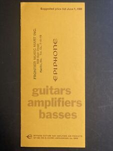 1968 Epiphone guitar / bass and amplifier USA price list case candy kalamazoo