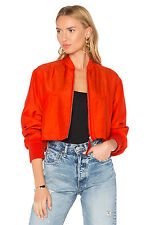 NWT Alexander T Wang Scarlet Cropped Bomber Jacket Size 8