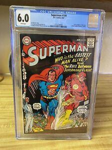 Superman #199 (1967) 1st Superman/Flash race. CGC 6.0
